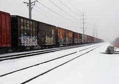 12-24-10 (106) cc (This Guy...) Tags: graf graff graffiti train traincar winter snow blizzard benching 2009 boob boobs