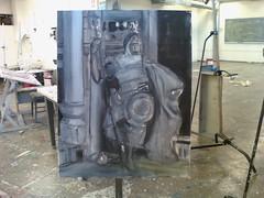 Oil Painting in the Works (plasticpumpkin) Tags: art oilpainting nubian renadams