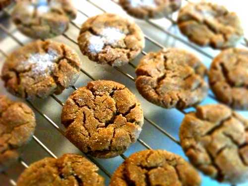blurry molasses sugar cookies