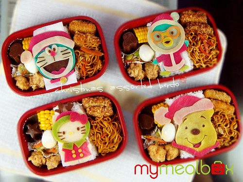 Christmas assorted bento