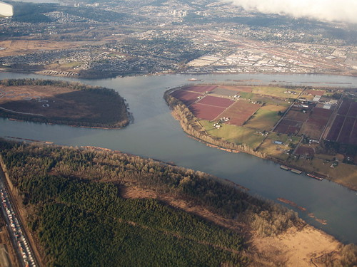 Meeting of Pitt River and Fraser River