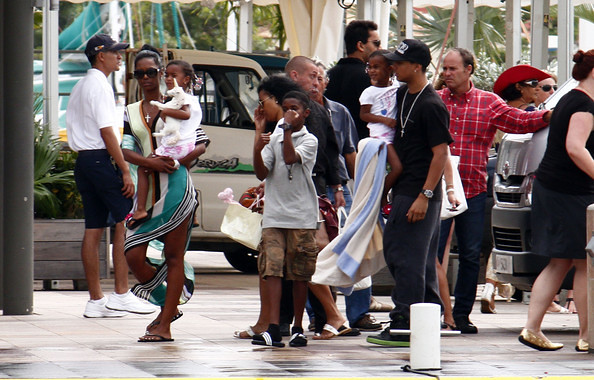 kim porter and kids st barth