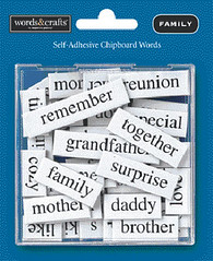 scrapbooking words