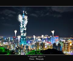 建國百年煙火_百鳴齊發(Happy New Year Taipei 101 Fireworks) (nans0410(busy)) Tags: fireworks taiwan 101 taipei 台灣 台北 象山 元旦 跨年煙火 happynewyear2011