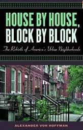House by House, Block by Block, book cover, Alexander Von Hoffman
