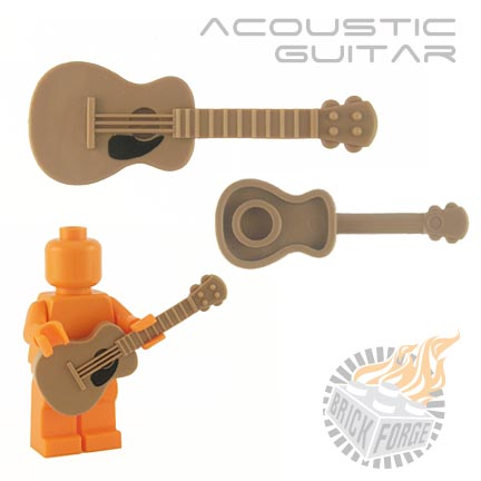 Acoustic Guitar - Dark Tan (black pickguard print)