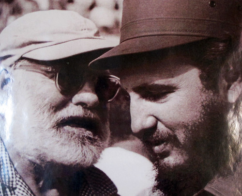 Hemingway and Castro, probably 1960