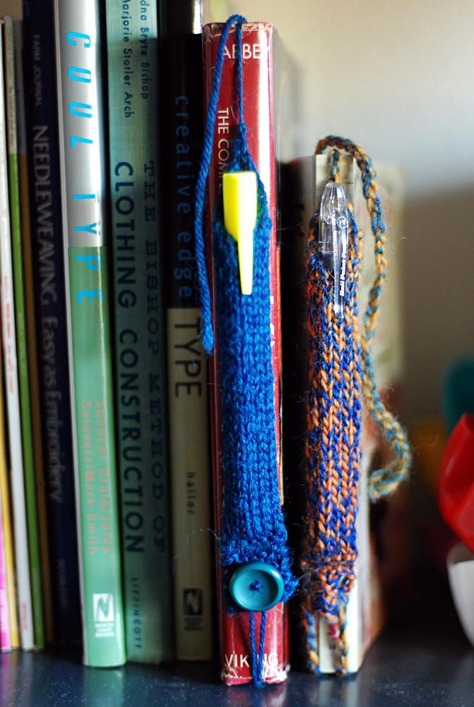 pen tube bookmarks!