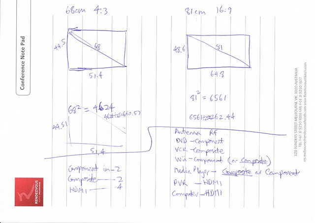 Will an 81cm 16:9 TV be bigger than a 68cm 4:3 TV for 4:3 programs? Yes.