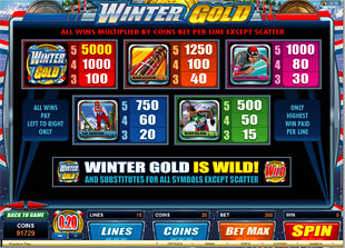 free Winter Gold slot mini symbol