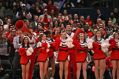 St. John's University Cheerleaders (Kevin Coles) Tags: nyc ny newyork sports basketball cheerleaders manhattan stjohns cheer ncaa msg madisonsquaregarden redstorm johnnies stjohnsuniversity 2011 bigeast