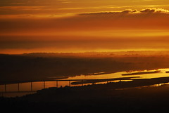 Sunset on a foggy day (anacm.silva) Tags: bridge sunset portugal fog ponte prdosol vianadocastelo minho nevoeiro riolima limariver anasilva ilustrarportugal mygearandmepremium ringexcellence
