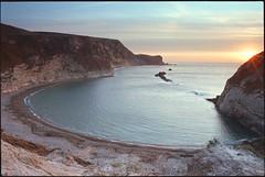 Man o'War Bay (Alistair Haimes) Tags: sea film sunrise dawn coast dorset flare ektar jurassiccoast manowarbay gettyimagesuklocation