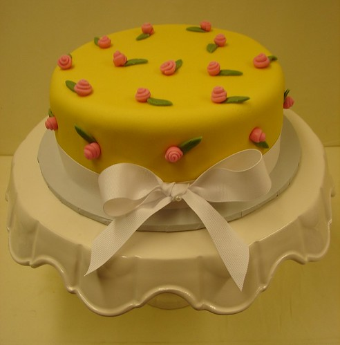 A Hint of Spring Birthday Cake