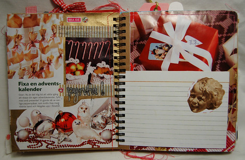 Candy cane + empty recipe card