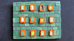 Abstract (Ginny Sher) Tags: abstract art glass mosaic vitreous greenandorange smalti