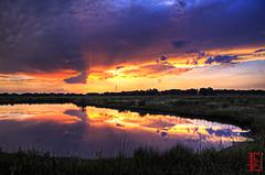 Wetlands Lightshow (Kansas Poetry (Patrick)) Tags: wetlands lawrencekansas 2011 bakerwetlands wakarusawetlands patricknancyforever