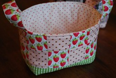 fabric baskets (coco stitch) Tags: pink girl fabricbasket