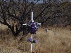 Roadside Memorial, Arizona (tofightfortheright) Tags: arizona remember az roadsidememorial tribute caraccident remembering roadsidememorials roadsidecrosses roadsidecross caraccidentmemorial kb9vghkatyconnell