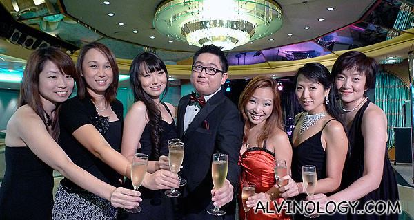 Me with the ladies, posing for the next TVB epic tycoon drama poster