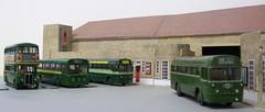 Dorking bus garage diorama (kingsway john) Tags: dorking bus garage ds kingsway models rt rf mb card 176 kits scale diorama londontransportmodel model oo gauge miniature