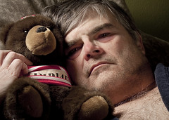 Under the weather (opticalreflex) Tags: portrait teddybear scruffy grouchy selfie feelingpoorly