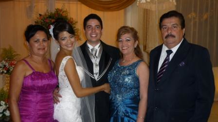 Rozilda Silva, os noivos, Maria Olívia e José Olivar de Azevedo