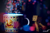 Its magical (achew *Bokehmon*) Tags: bear pink blue wallpaper anime color cup night toy robot fly amazon flickr bokeh pooh winnie magical danbo