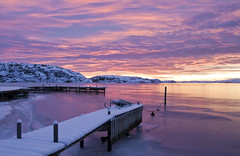 Sunset (DrKotte) Tags: winter sea snow sweden sverige sotens hunnebostrand vstkusten bovallstrand sigma1850mmf28exdcmacro