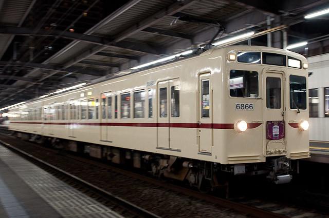 京王電鉄6000系 6416FありがとうHM
