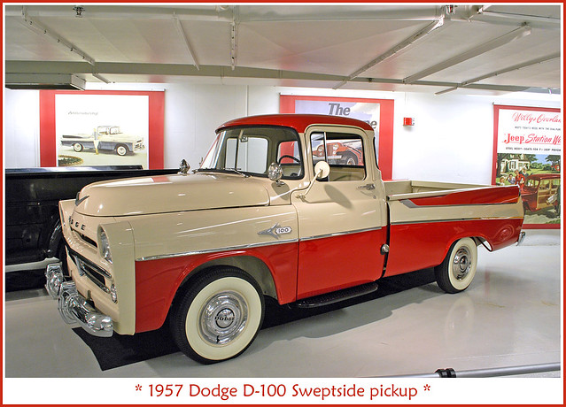 pickup alltypesoftransport walterchryslermuseum 1957dodgesweptside