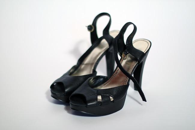 Dirty Hems DIY- Neon Sole Heels 3