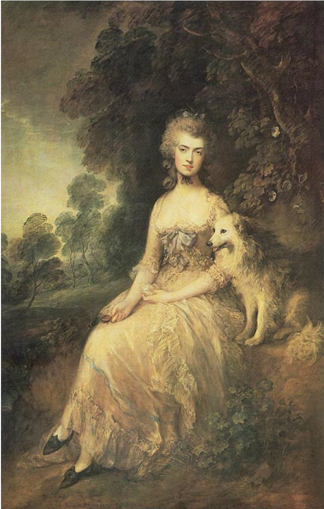 18th Century Theatre: Mary 'Perdita' Robinson 1757 - 1800 portrait by Thomas Gainsborough
