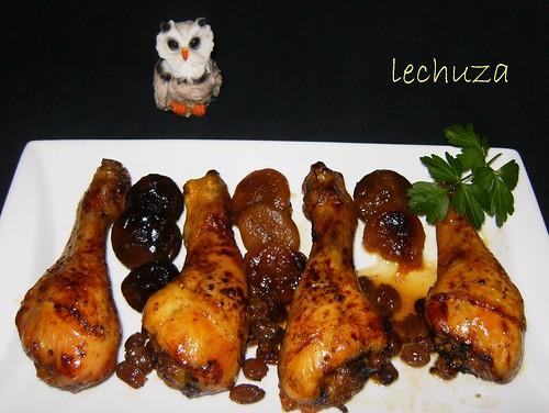 Pollo con orejones-fuente