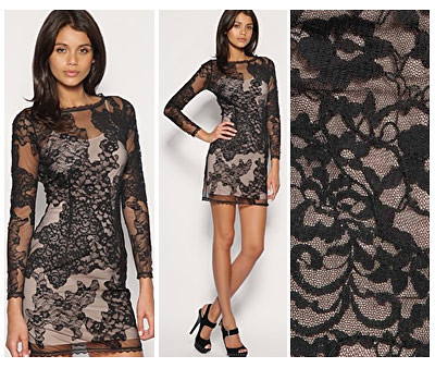 ASOS Lace Black Dress