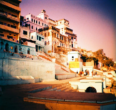 Ghats  Varanasi (Julien Mailler) Tags: world street travel india julien lomography asia cross mini diana national processing varanasi asie geographic inde pradesh ghats benares uttar traitement crois lovelyphotos jules1405 unseenasia mailler