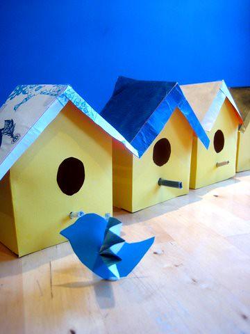 Printable Bird House And Bird Template