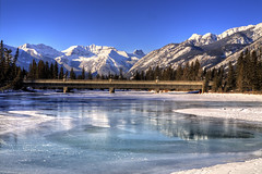 Bow river, Banff, Canada (kisee_) Tags: winter snow canada ice river rockies alberta bow banff bowriver pictureperfect canadianrockies