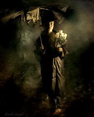 upon a foggy night (derek raugh) Tags: boy roses texture umbrella dark strobist derekraugh