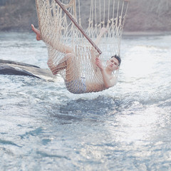 Big catch. (alexstoddard) Tags: ocean fish net water swim river captured caught