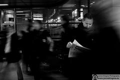 Motion notion (Just a guy who likes to take pictures) Tags: voyage street city portrait people urban bw en white news man motion black holland male netherlands monochrome dutch station amsterdam night scarf paper tren photography reading und movement reisen europa europe metro ns candid nederland bahnhof read jeans headlines estacion mister mann nl press bas herr papier zwart wit weiss pays accent schwarz metropol stad pers trein lees noordholland zeitung sloterdijk niederlande beweging zw reizen gvb the spits krant nieuws humen lezen weis meneer straatfotografie