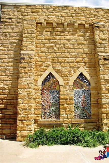 Limeston Wall and Stained Glass