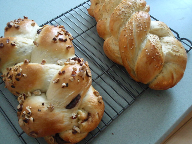 1/21 Nutella Challah and Honey Challah