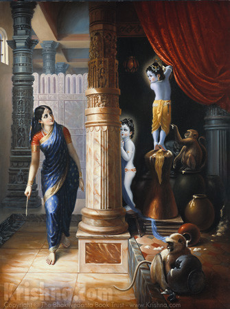 Krishna And Balarama Steal Butter From The Gopis