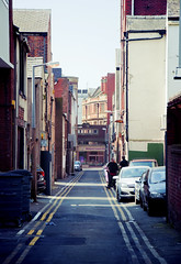 Back to Black (Nick Barkworth) Tags: alley blackpool sidestreet nikond90