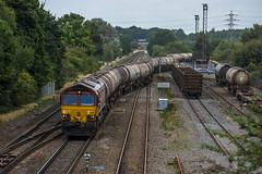 66_102_Kingsbury_07_09_16 (chrisbe71) Tags: 6m57 66151 ews dbs dbc gm emd shed kingsbury warwickshire petroleum