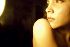lightbulbs (Flores Ser) Tags: light woman selfportrait lightbulb nude cozy eyes shoulder