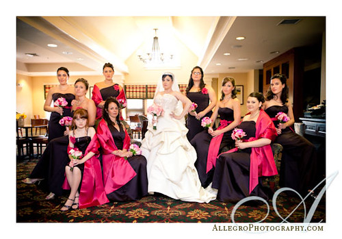 downtown-hyatt-boston-wedding- bride and bridesmaids portrait vanity fair vogue style- boston ma