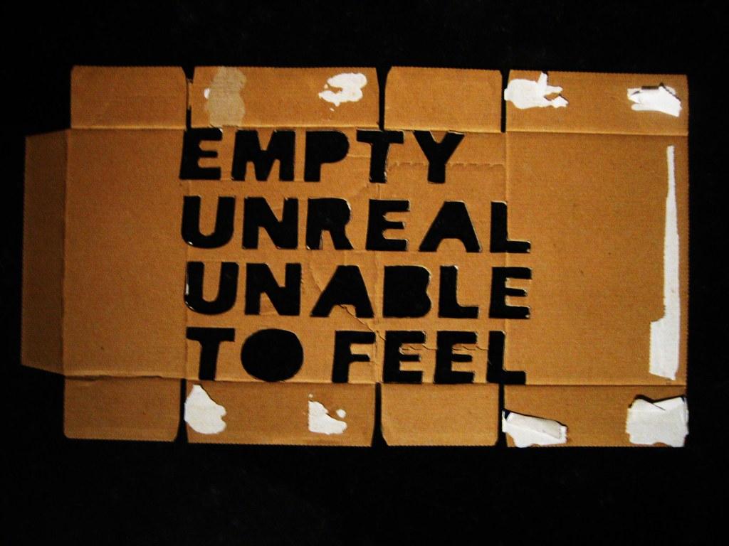 empty unreal unable to feel [stencil]