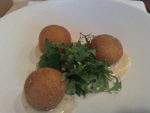 saffron and fontina arancini